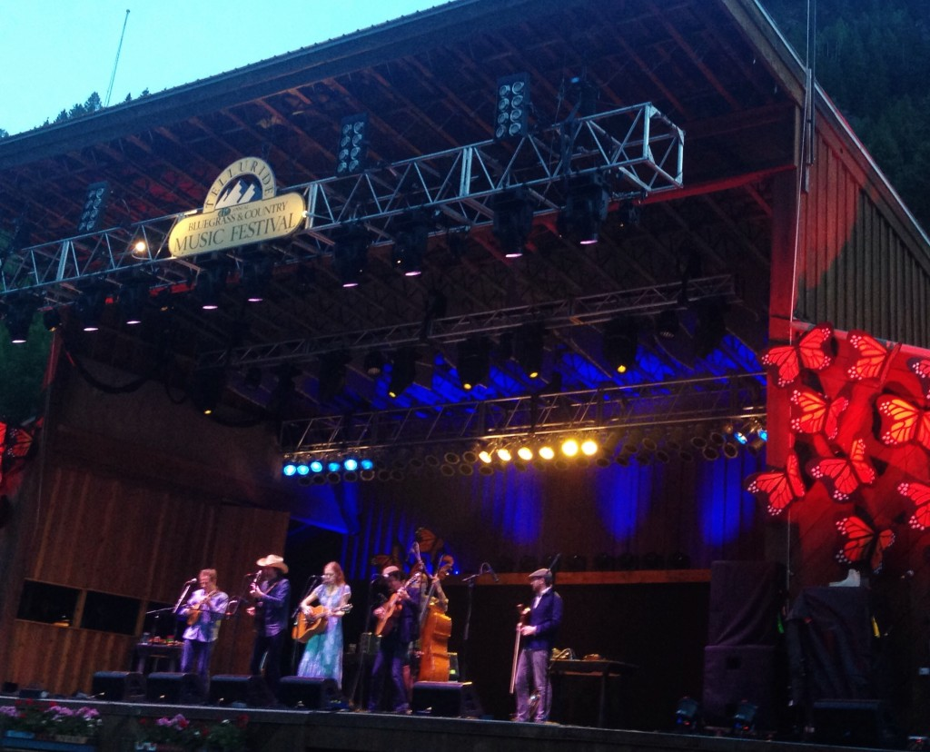 The Dave Rawlings Machine onstage at Telluride