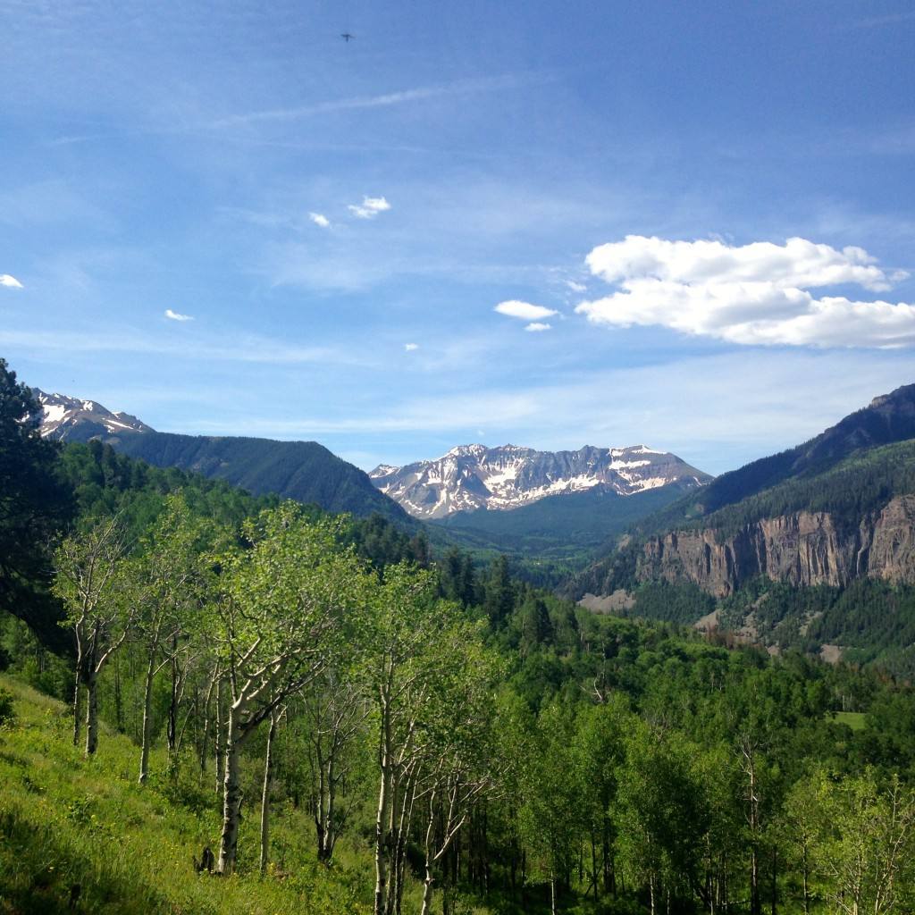 The view from our campsite - we will miss you, Telluride!